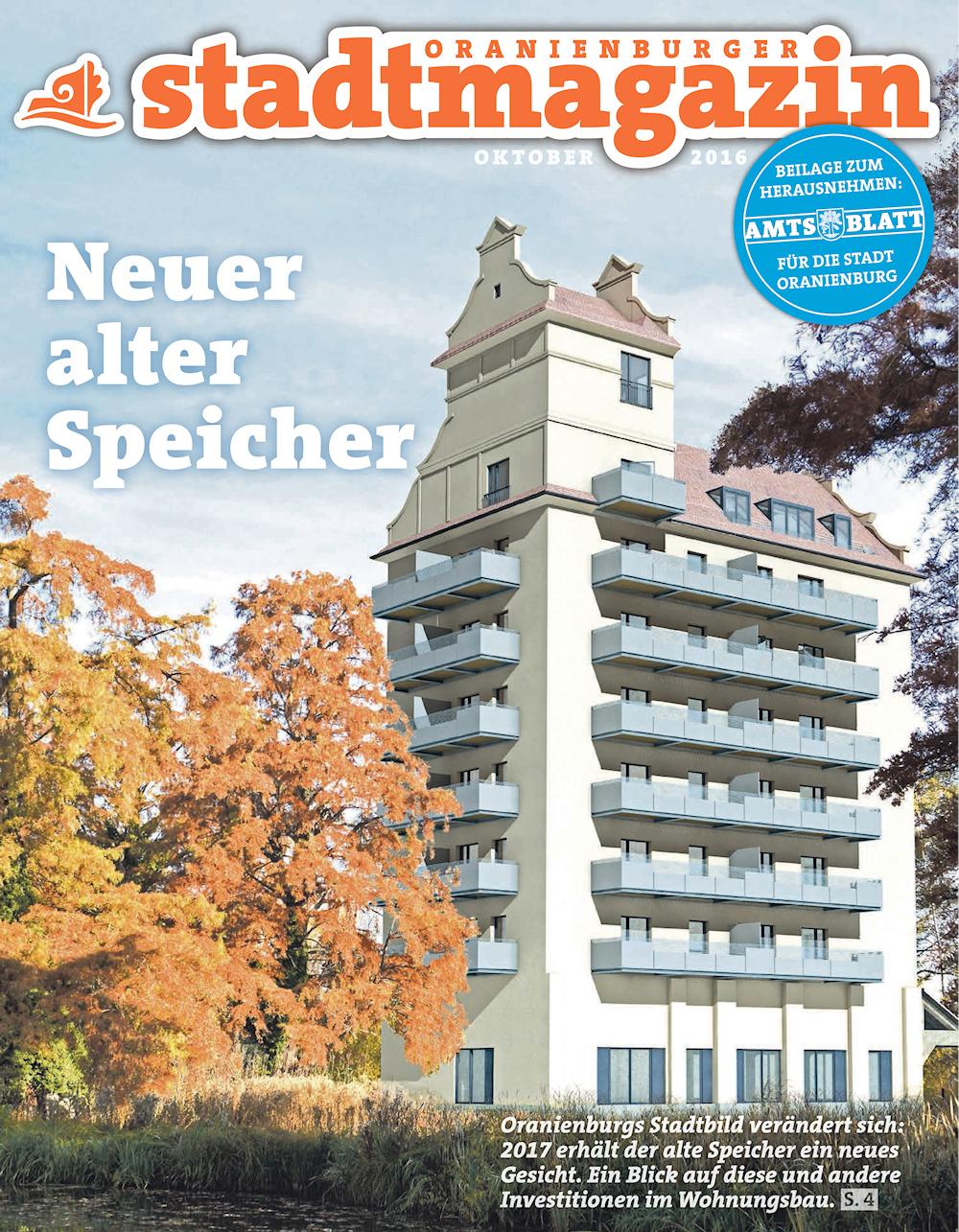 Mit professionell gestalteten Bildern wie diesem, welches im Oktober 2016 im Oranienburger Stadtmagazin erschien, warb der Investor für sein Projekt.